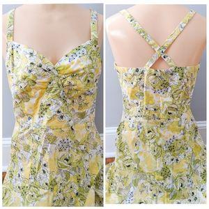 Ann Taylor Loft Floral Criss Cross A-Line Dress